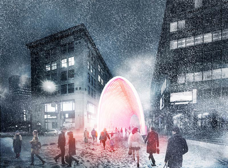 KANVA wins the City of Montréal's competition 'Vivre le Chantier Sainte-Cath!' to animate the construction site