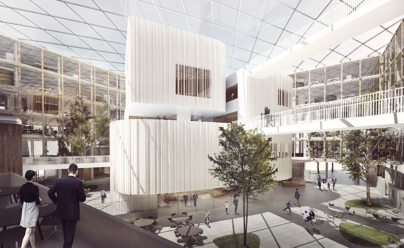 Henning Larsen Architects won the design of a New Town Hall in Uppsala, Sweden