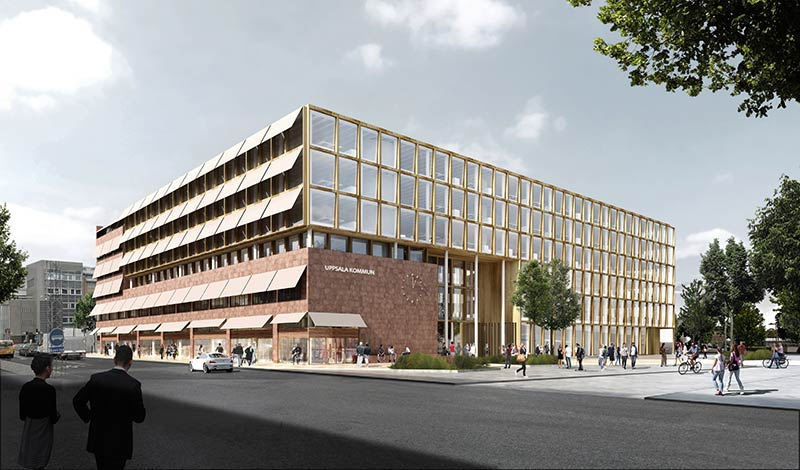New Town Hall in Uppsala, Sweden