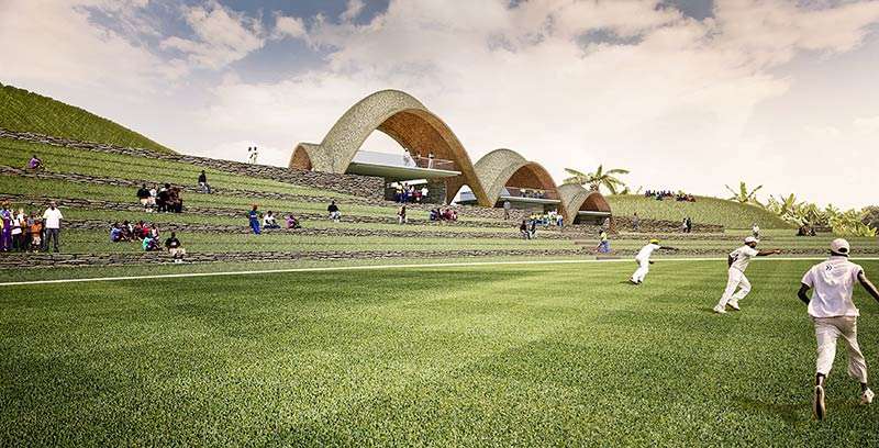 The proposed cricket ground in Rwanda