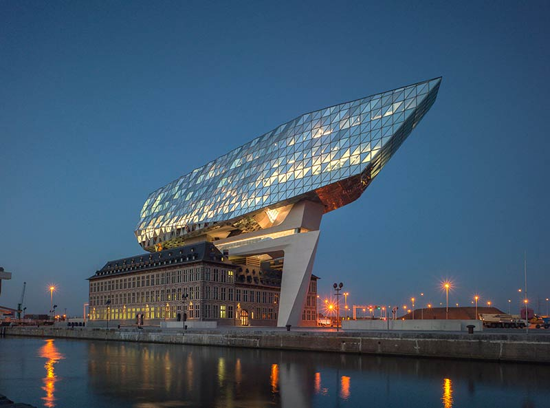 Zaha Hadid Architects' new Port House in Antwerp is now open