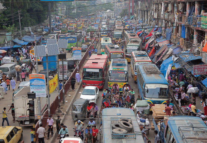 The Bangladeshi Traffic Jam That Never Ends