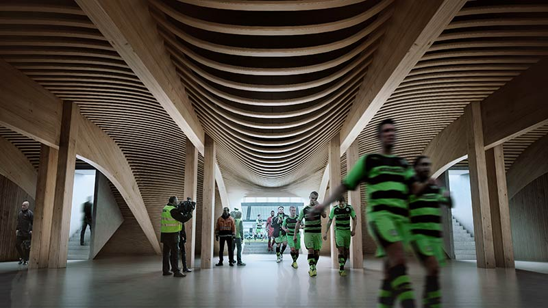 Zaha Hadid Architects to design Forest Green Rovers Stadium
