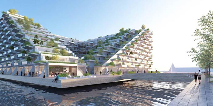 BIG & Barcode Architects design new gateway in Amsterdam