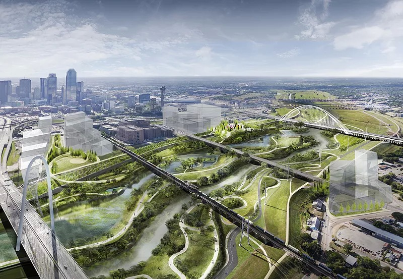 Dallas is to build America's largest urban park