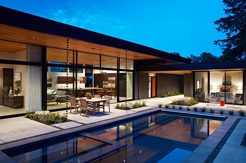 Architecture houses glass Contemporary Glass Wall House Klopf Architecture Architecture Lab Glass Wall House Klopf Architecture Architecture Lab