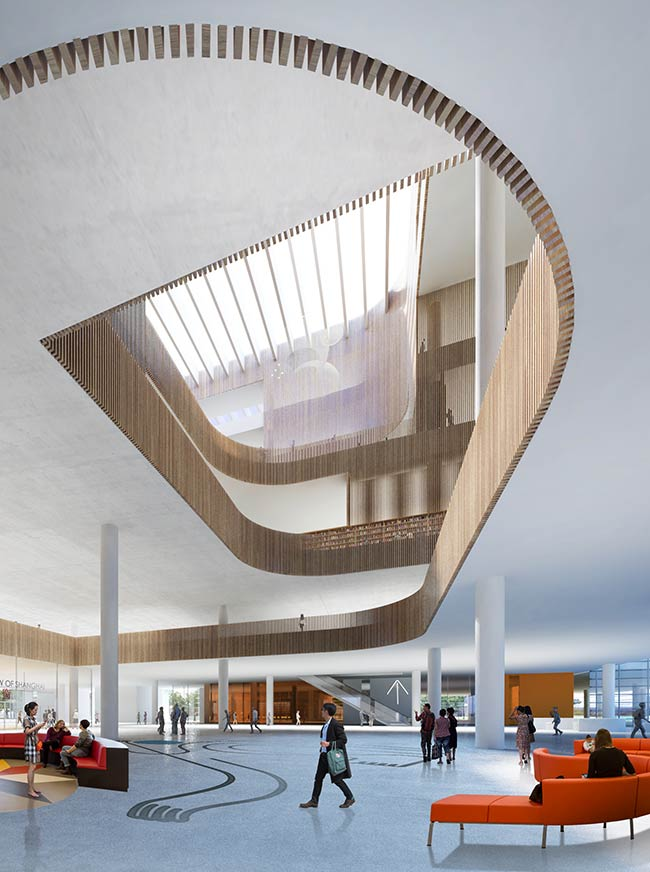 Schmidt hammer lassen architects to design the new shanghai library, china
