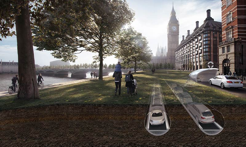 A tube for cars? Proposal to bury London's traffic says it's 'next best thing to teleportation'