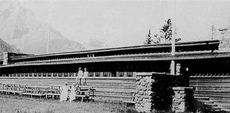 Banff pavilion by Frank Llyod Wright that was demolished in 1939