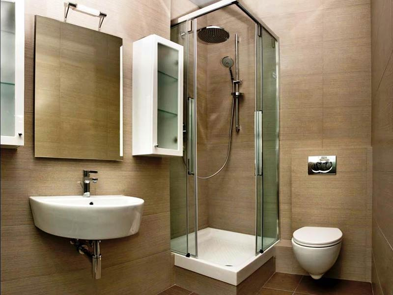 7 sneaky ideas to make small baths look bigger and leave a for Compact bathroom solutions