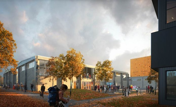 Roskilde Festival Folk High School by MVRDV/COBE breaks ground