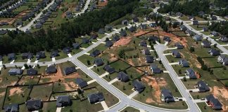 Suburban Atlanta … a sprawling city according to Demographia and Smart Growth America