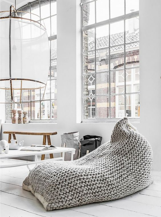 Simple Puf Poufs Can Be Transformed Beyond Belief With The Right Finish,  One Could Pursue These Crocheted Clothes And Create Extraordinary New  Seating ...