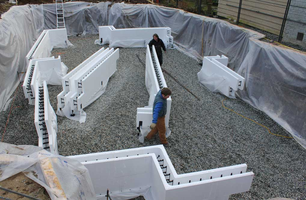 What is insulated concrete icf and how is it used in for Concrete form homes