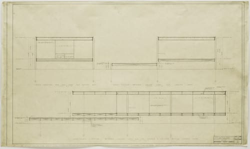 Farnsworth House section drawings