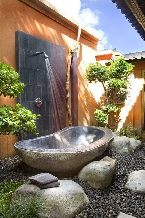20. Outdoor bathing area cool