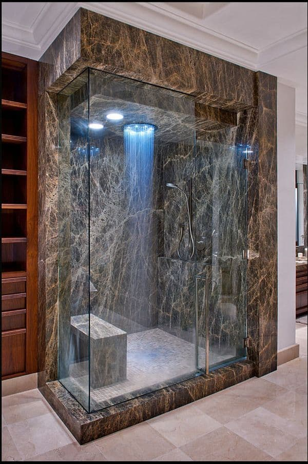 The Opulent Granite Shower Enclosure
