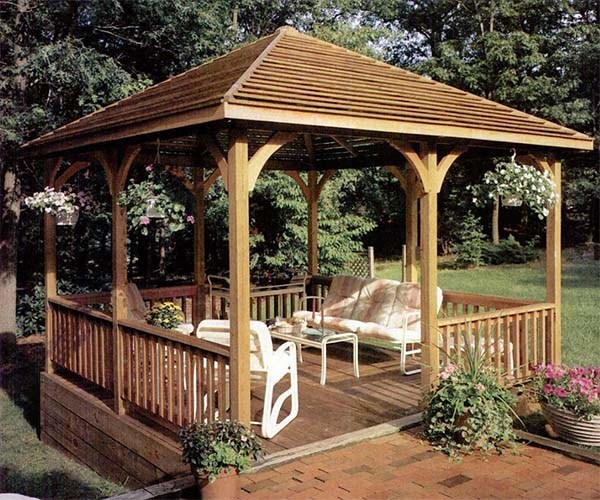 27 Cool and Free DIY Gazebo Plans & Design Ideas to Build Right Now - 27 Cool And Free DIY Gazebo Plans & Design Ideas To Build Right Now