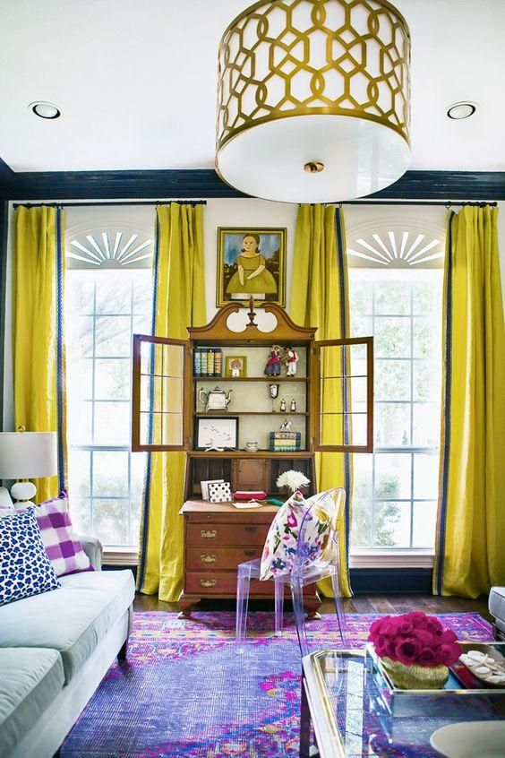 Chartreuse curtains Color