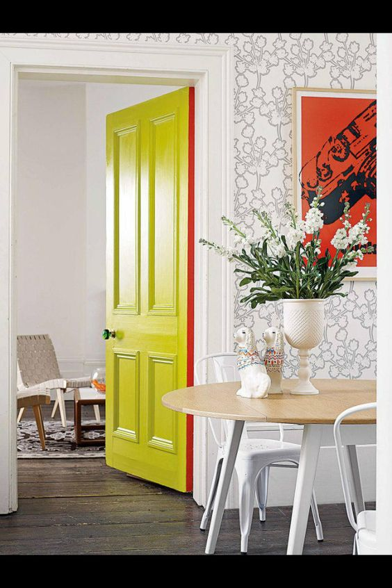 Chartreuse Color door