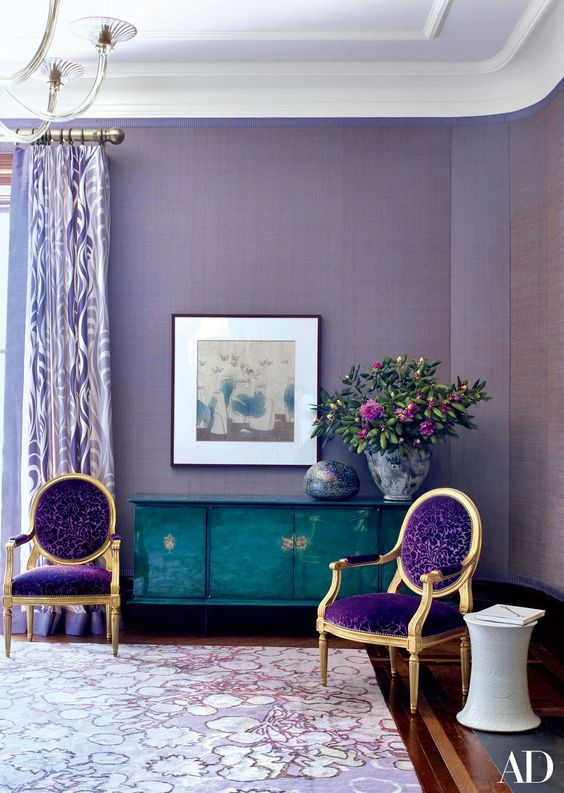 Lavender Color Interior Designs Follow