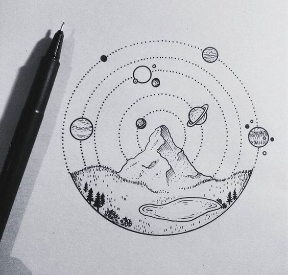 journey into the centre of the solar system an artists sketch