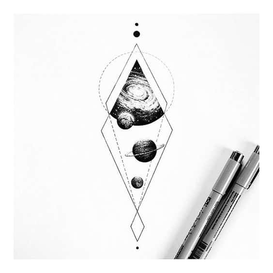47. Geometry and The Universe by Insta_Blackwork