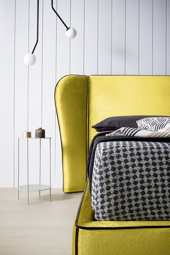 Chartreuse color armchair