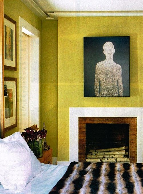 Chartreuse Color wall