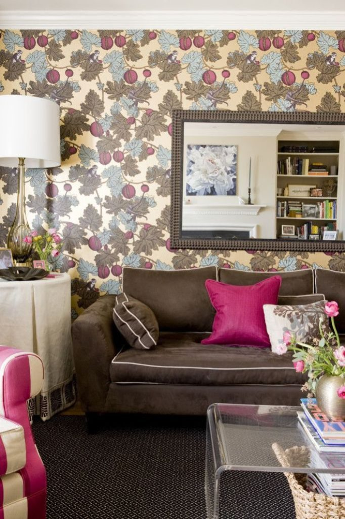 The Bright And Vivacious Shade Of Color Pink Adds Personality To More Neutral Brown Brightens Up Whole Atmosphere