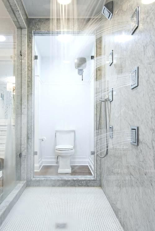 Walk-in Showers with Multiple Sprays