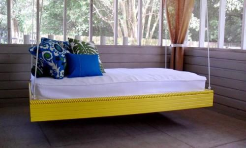 20 insanely cool hanging bed ideas for a soothing sleep just follow the instructions and at the end of the day take a long nap with the breeze rocking you to sleep solutioingenieria Image collections
