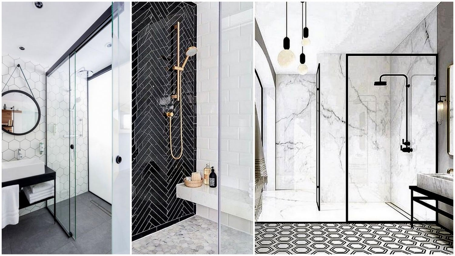 Airy Transparent Bathrooms and Door-less Walk-in Shower Designs ...