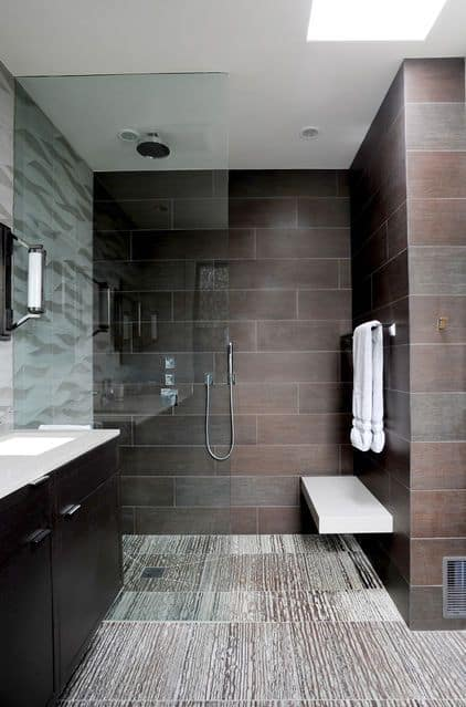 Wet Room Style Walk-in Shower Design