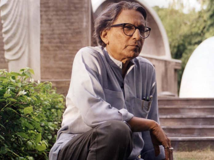 Doshi started studying architecture in 1947, the same year India gained independence. Courtesy of VSF
