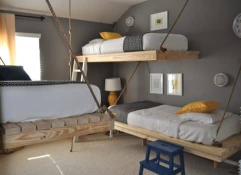 20 Insanely Unique Hanging Bed Ideas