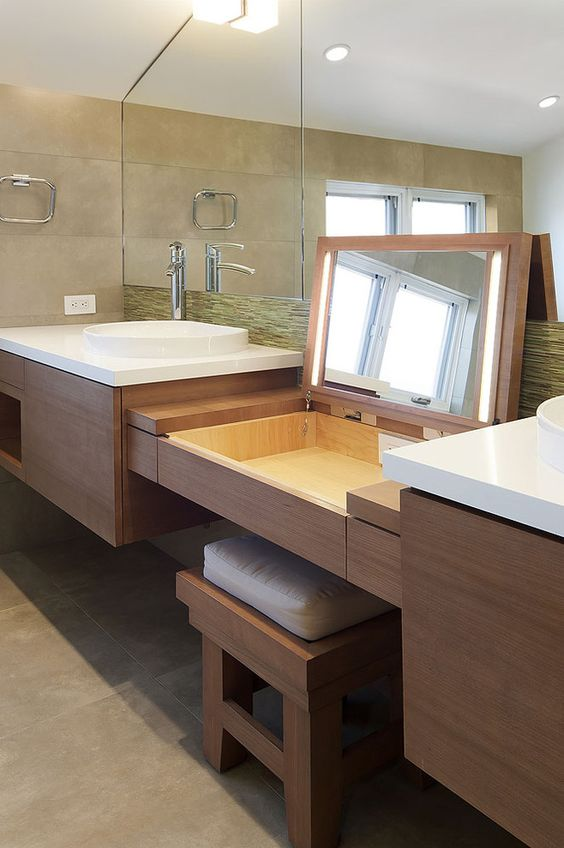 Dual Mirror Luxury Bathroom