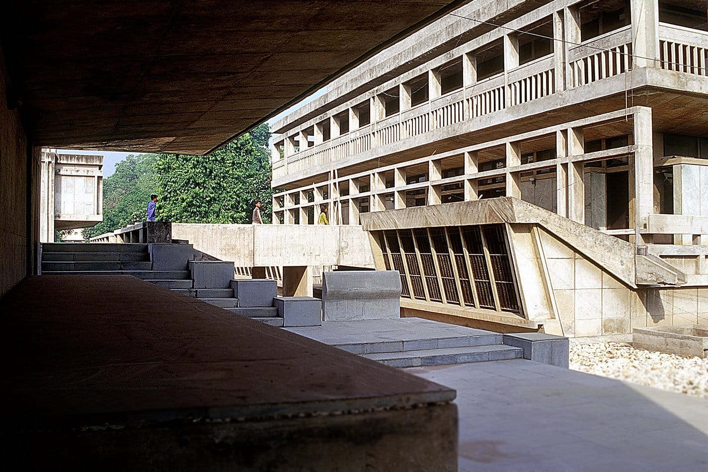 Doshi created Ahmedabad's Institute of Indology building in 1962. Courtesy of VSF