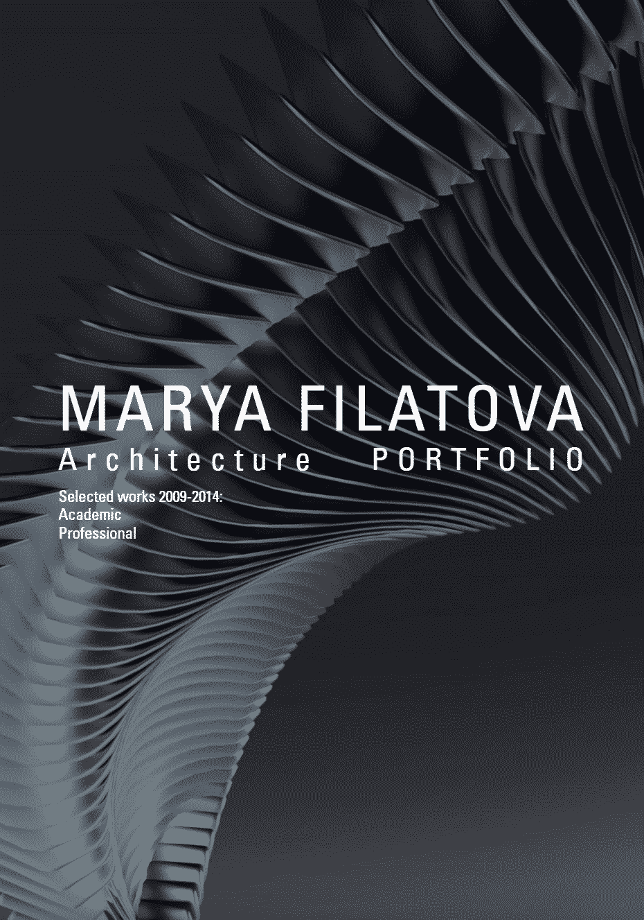 © Marya Filatova architecture portfolio design cover (4)