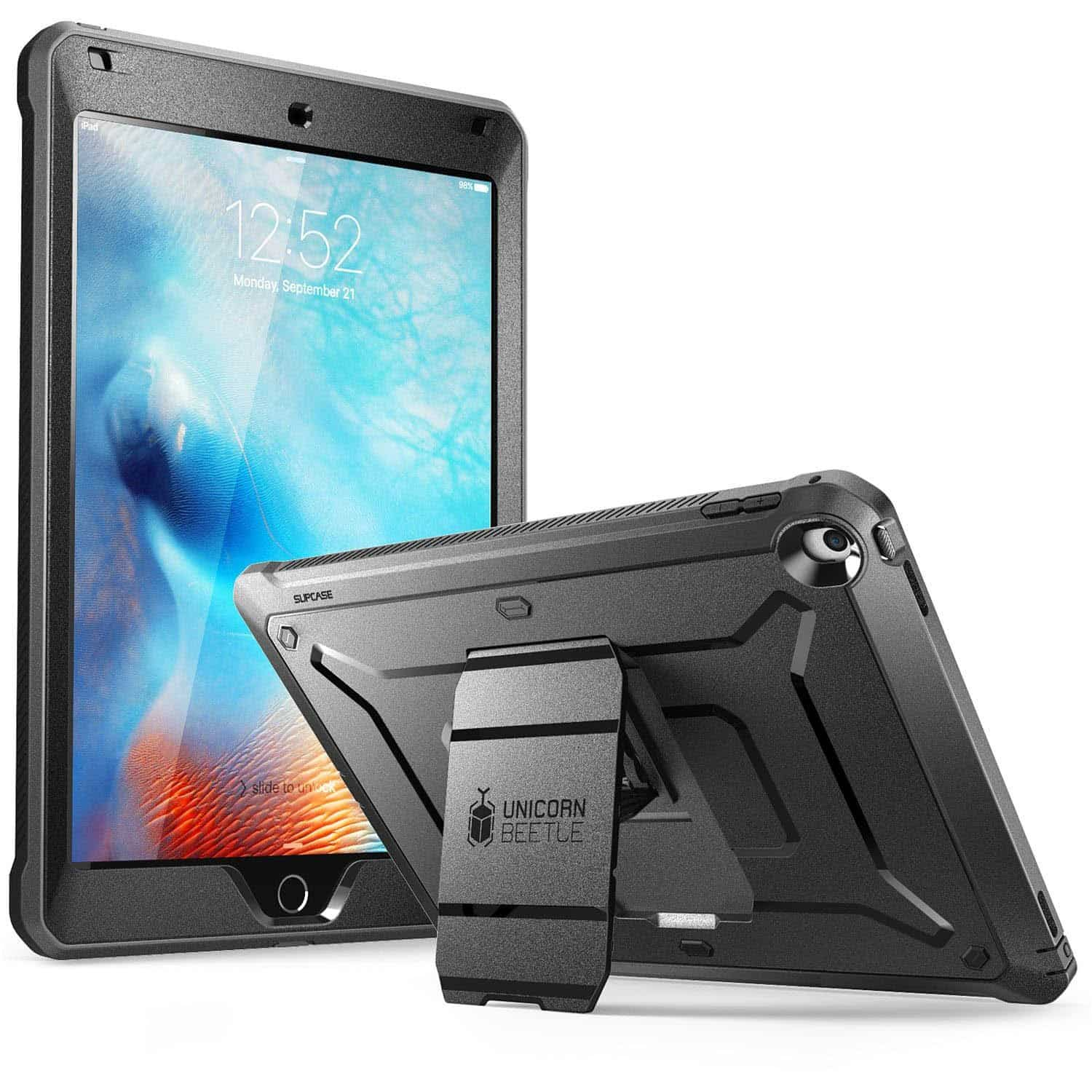 """Supcase ipad case heavy duty [unicorn beetle pro series] for apple ipad 9. 7"""" ipad case for construction workers"""