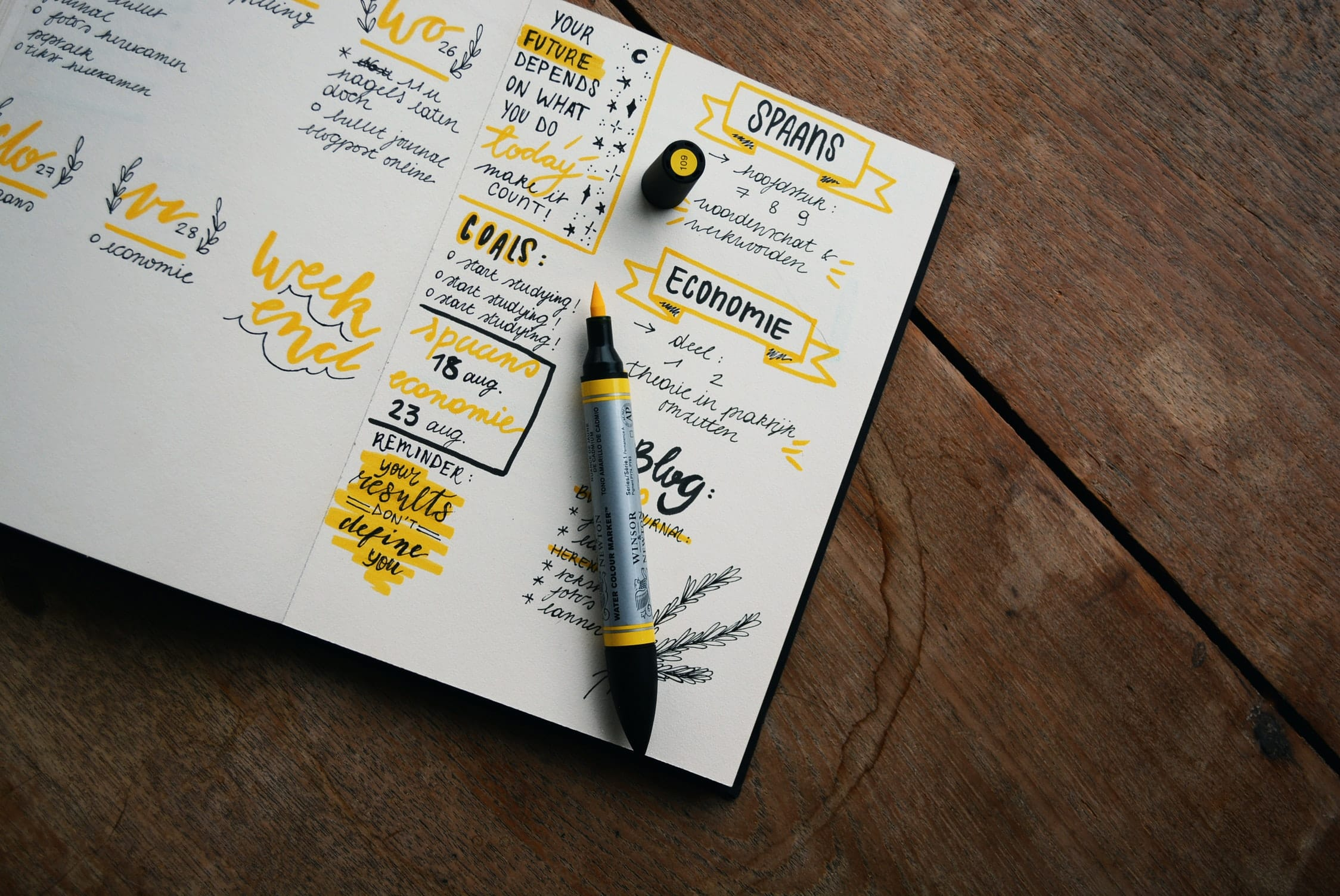 Best Sketchbook for yellow and black Markers