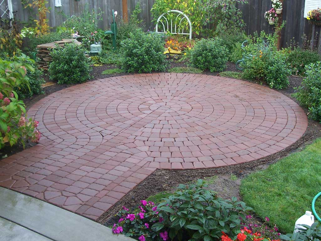 Rock Concrete Brick Patio Ideas