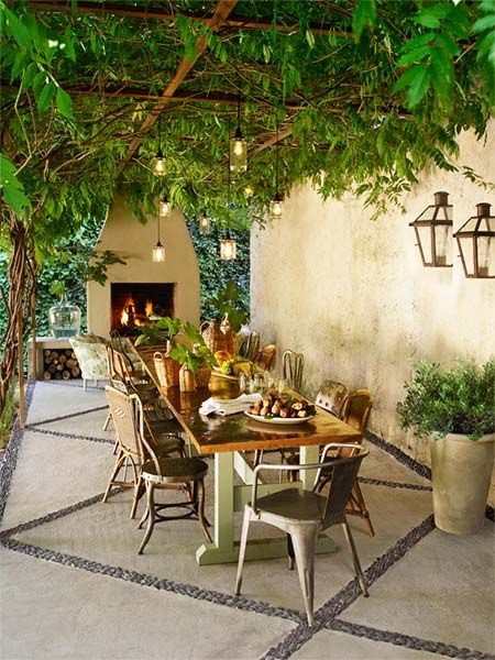 Vines covered patio