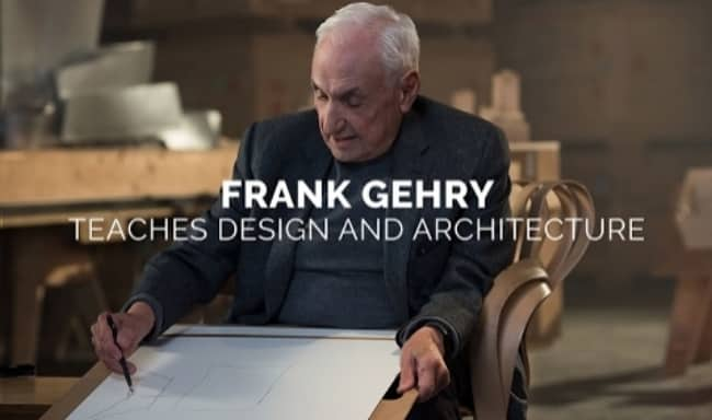 Frank gehry masterclass architecture gifts