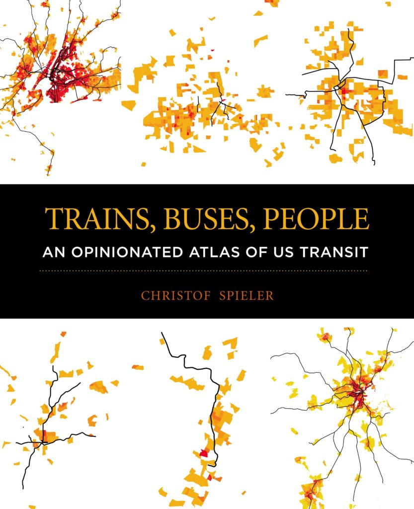 Trains buses people cover