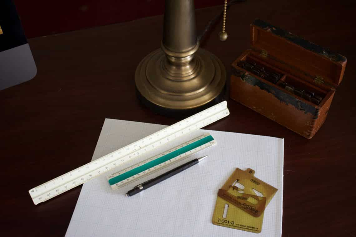 Rulers and scales for architects