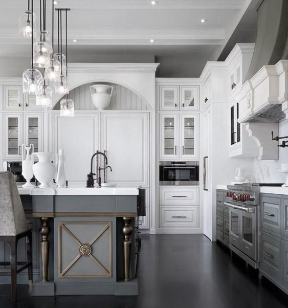 Timeless lighting for an ageless white kitchen