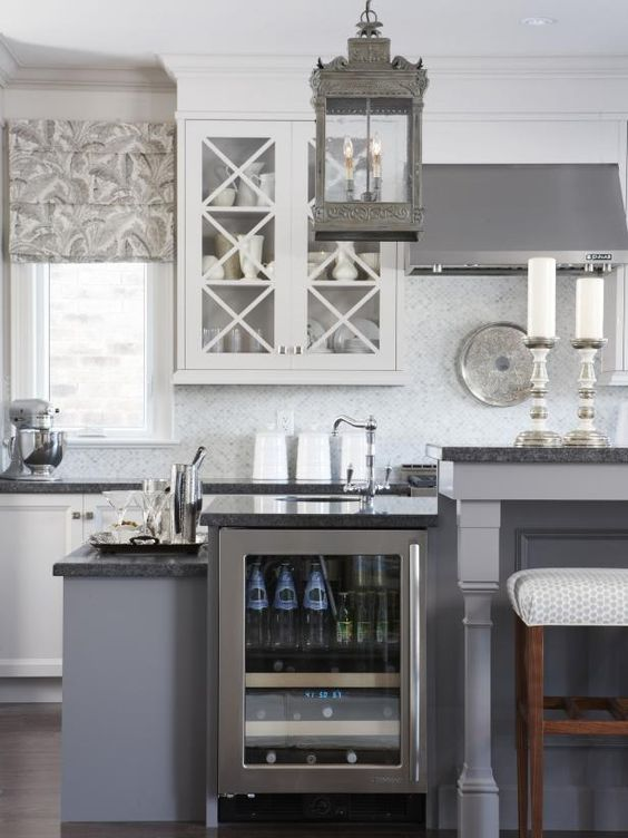 The Cottage Gray Kitchen