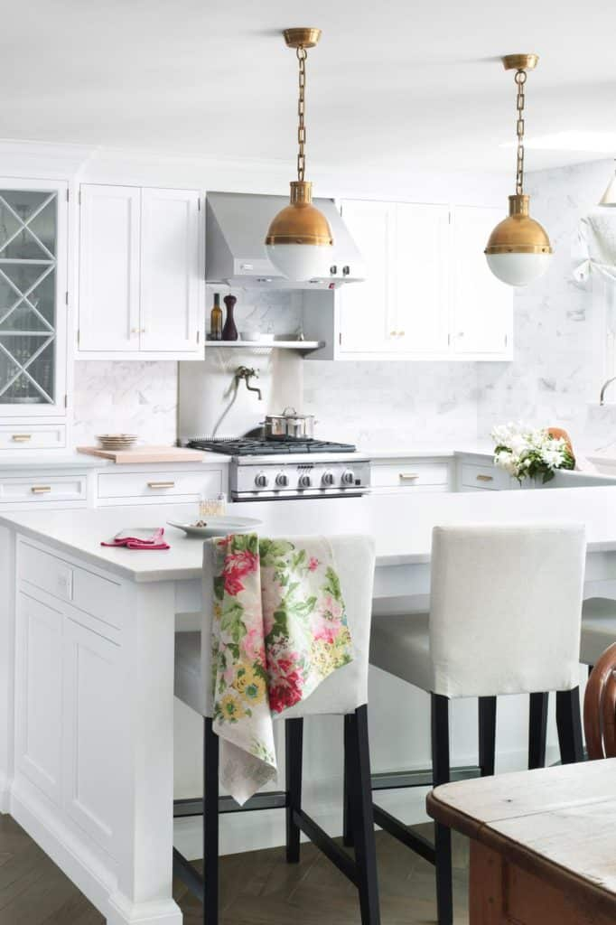 A completely white kitchen
