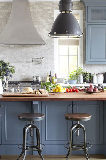 The cozy, cool kitchen